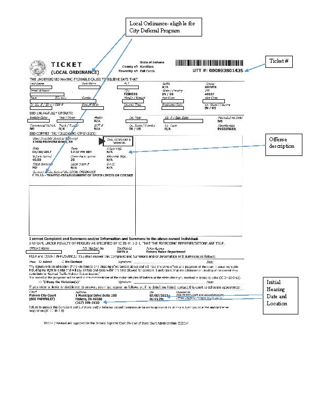 Electronic ticket example