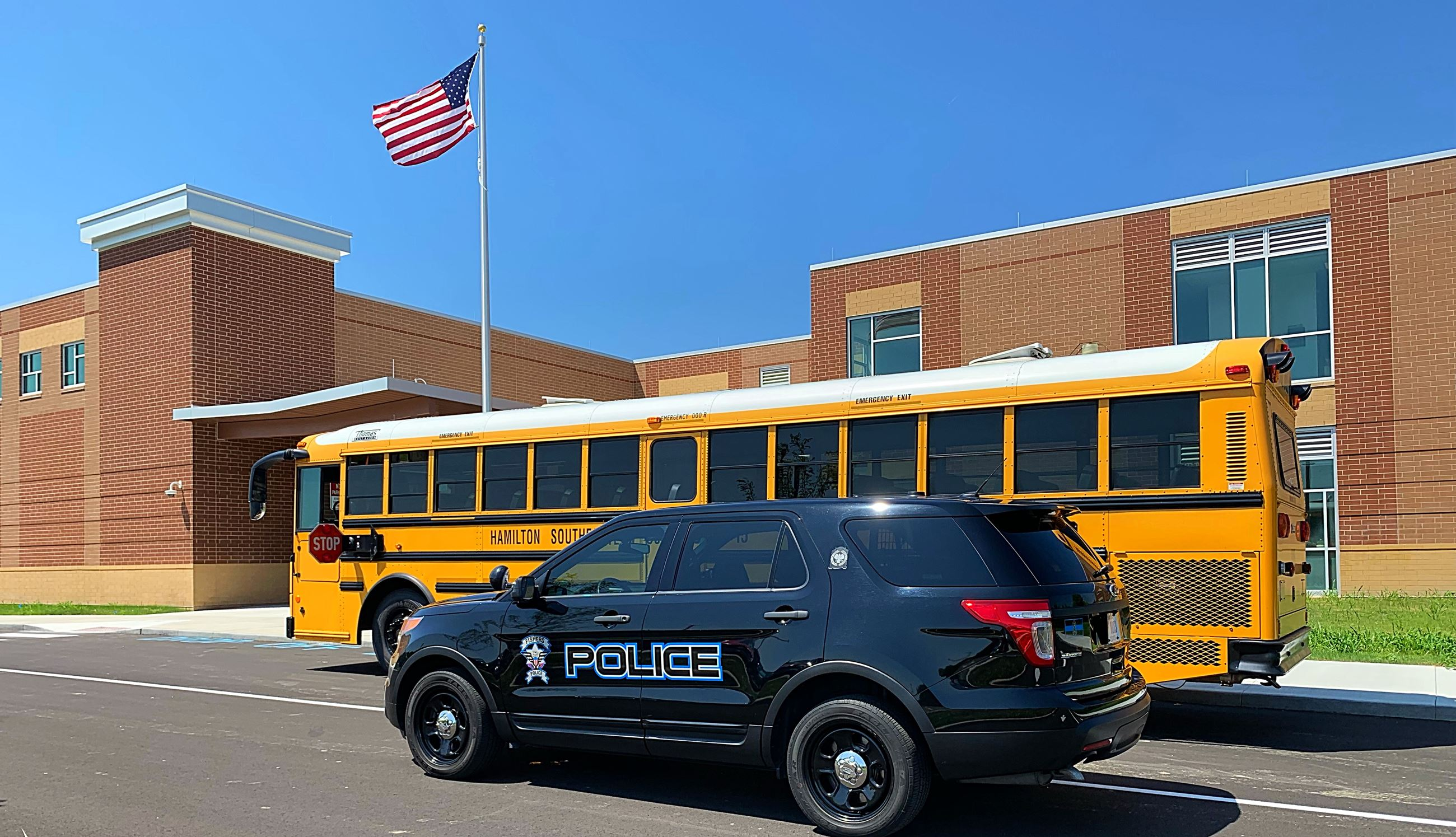 08-05-2019 School Bus and Police SUV