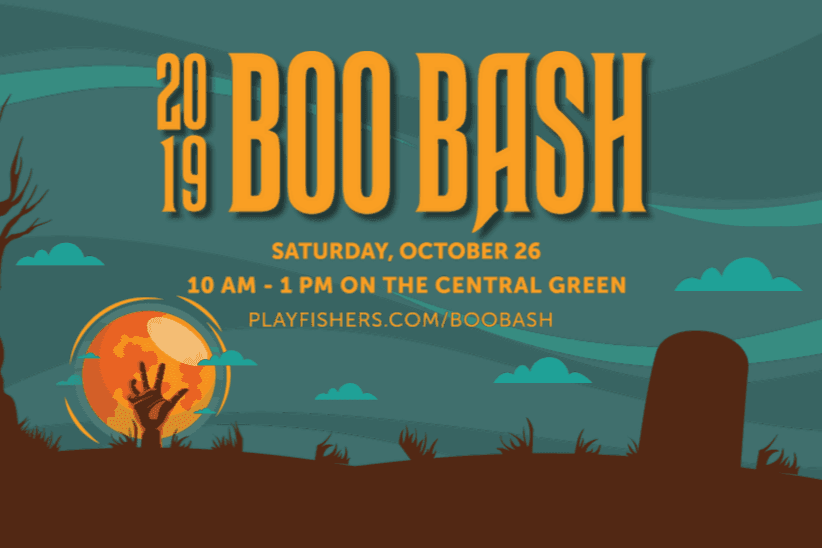 2019 boo bash, saturday, october 26 | 10 am - 1 pm on the central green playfishers.com/boobash